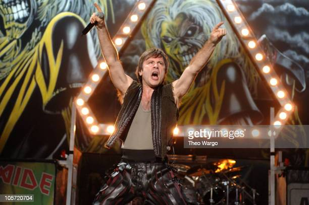 Bruce Dickinson of Iron Maiden during OZZFEST 2005 at the PNC Arts Center in Holmdel - July 26, 2005 at PNC Arts Center in Holmdel, New Jersey,...