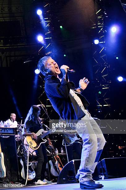 Bruce Dickinson performs on stage during The Sunflower Jam at Royal Albert Hall on September 16 2012 in London United Kingdom