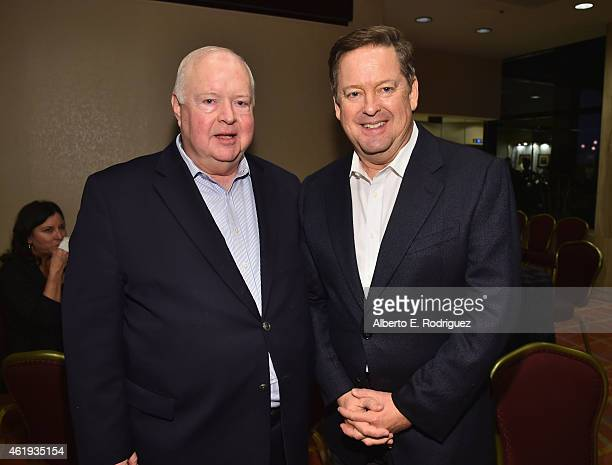 Bruce DuMont President founder of The Museum of Broadcast Communications and TV personality Sam Rubin attend the book launch of Los Angeles...