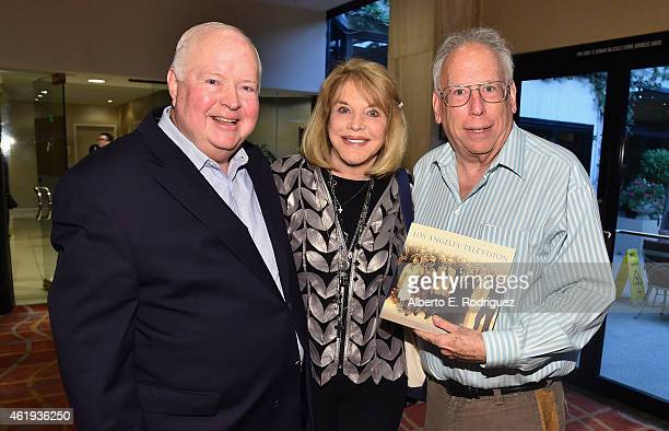 Bruce DuMont President founder of The Museum of Broadcast Communications Kelly Lange and author Joel Tator attend the book launch of Los Angeles...