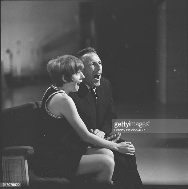 Bruce Forsyth and Cilla Black perform on a TV show London circa 1965