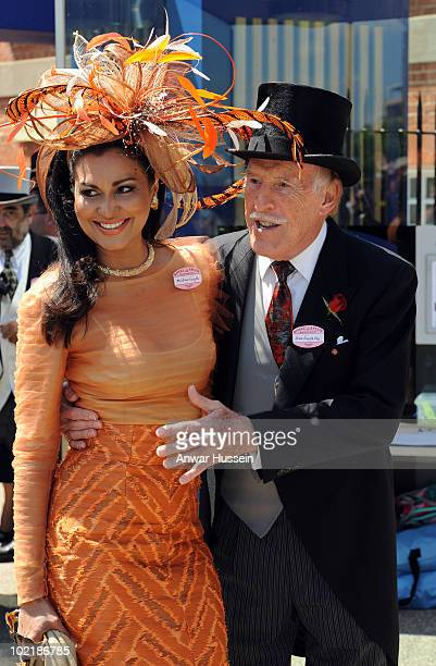 Bruce Forsyth and wife Wilnelia attend Ladies Day at Royal Ascot on June 17, 2010 in Ascot, England.