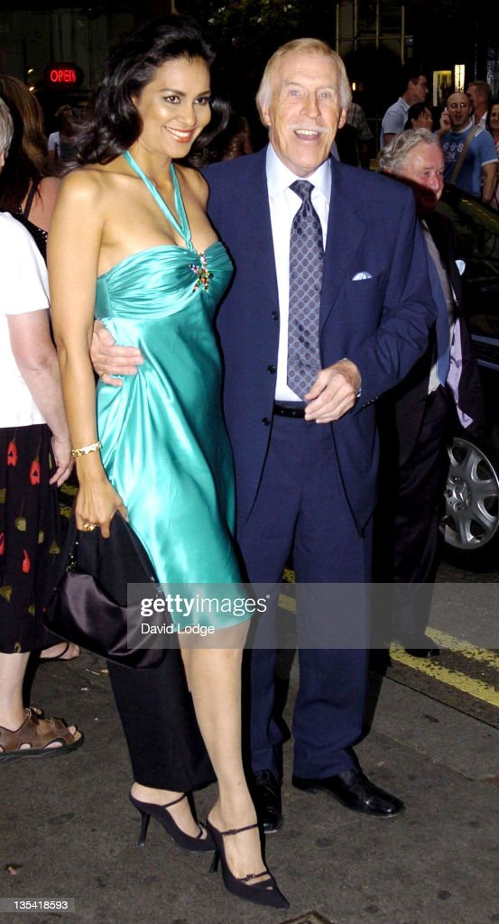 Bruce Forsyth and wife Wilnelia Merced during 'Guys and Dolls' - Cast Change Press Night at Piccadilly Theatre in London, Great Britain.
