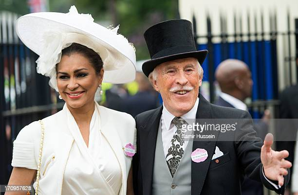 Bruce Forsyth and Wilnelia Merced attend Ladies Day on day 3 of Royal Ascot at Ascot Racecourse on June 20 2013 in Ascot England