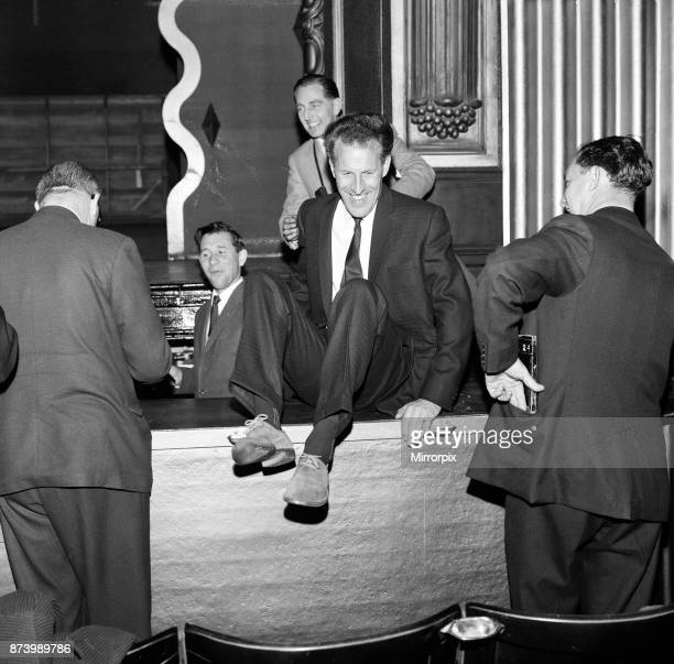 Bruce Forsyth at The Royal Variety show rehearsal Victoria Palace Theatre London 13th May 1960