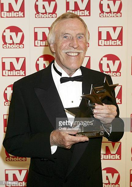 Bruce Forsyth poses with the award for Best Entertainment Show for Srictly Come Dancing at the TV Quick and TV Choice Awards at the Dorchester Hotel...