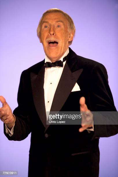 Bruce Forsyth shooting a TV advert for the Strictly Come Dancing compilation album 19/10/04