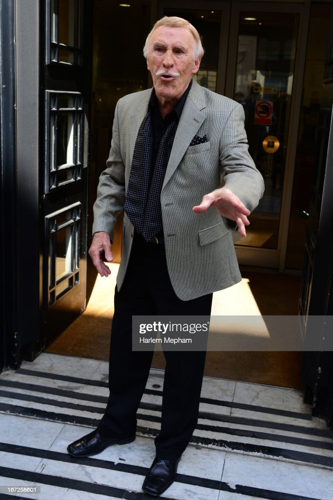 Bruce Forsyth sighted at BBC Radio One on April 23, 2013 in London, England.