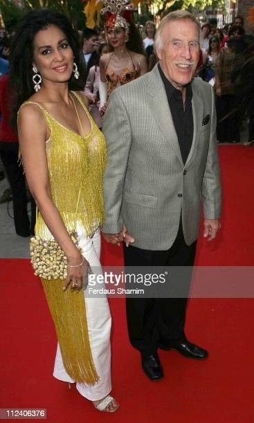 Bruce Forsythe and wife during Brasil Brasileiro London Premiere at Sadler's Wells Theatre in London Great Britain