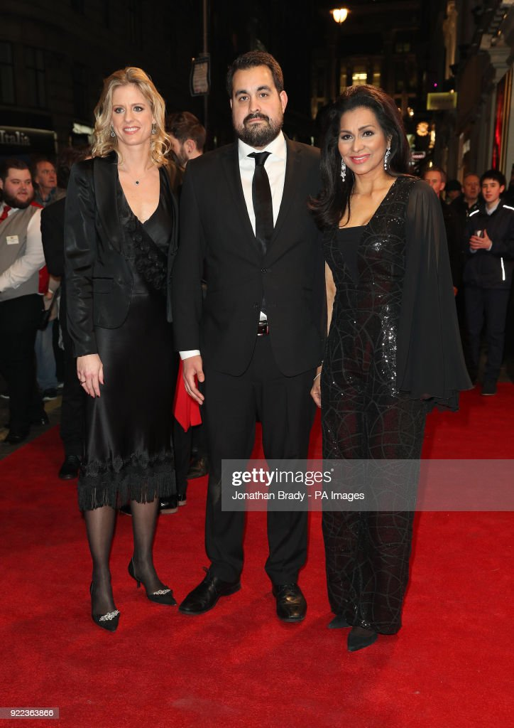 Bruce Forsyth's widow Wilnelia Merced (right) arrives at the BBC event Bruce: A Celebration at the London Palladium, which will honour the life of the late entertainer Sir Bruce Forsyth.