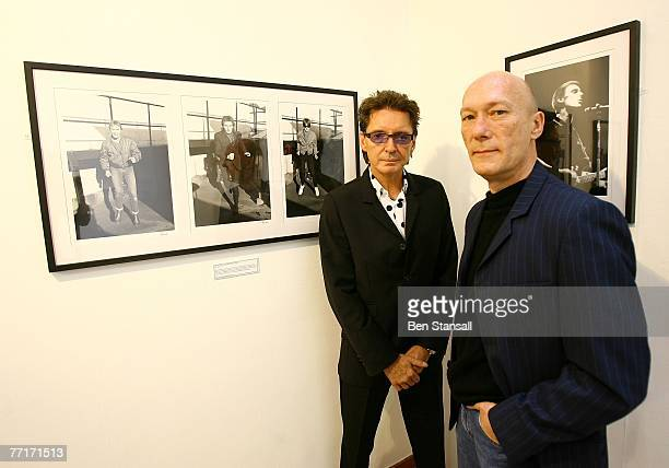 Bruce Foxton and Rick Buckler of The Jam pictured in The Movie Poster Art Gallery where an exhibition of The Jam band photography is being held...