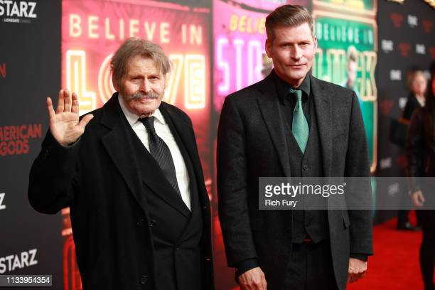 Bruce Glover and Crispin Glover attend the premiere of STARZ's 'American Gods' season 2 at Ace Hotel on March 05 2019 in Los Angeles California
