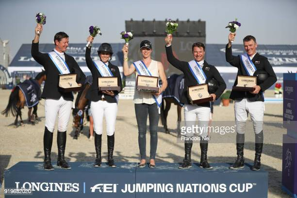 Bruce Goodin Samantha Mcintosh Ulrika Goodin Daniel Meech and Richard Gardner from New Zeland receive price during The President of the UAE Show...