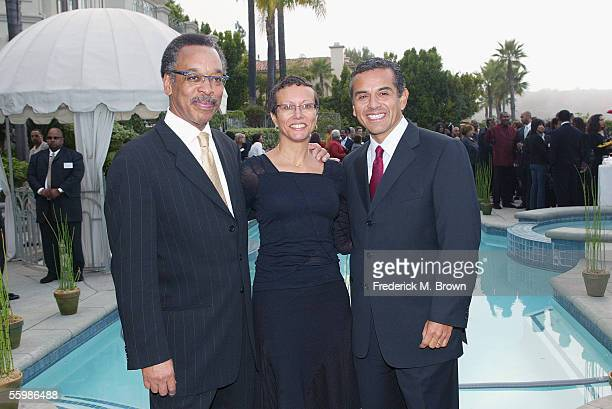 Bruce Gordon president/CEO of the NAACP his wife Tawana Tibbs and Los Angeles mayor Antonio Villaraigosa attend a special event by the Hollywood...