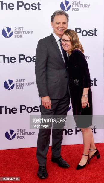 Bruce Greenwood and Susan Devlin arrive at The Post Washington DC premiere at The Newseum on December 14 2017 in Washington DC
