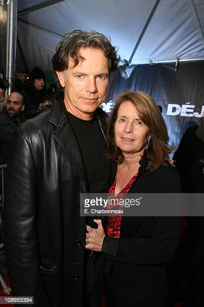 """Bruce Greenwood and Susan Devlin during World Premiere of Touchstone Pictures' and Jerry Bruckheimer Films' """"Deja Vu"""" at The Ziegfeld..."""