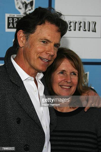 Bruce Greenwood and wife Susan Devlin arrive at the 2008 Film Independent's Spirit Awards held at Santa Monica Beach on February 23 2008 in Santa...