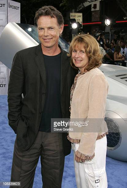 Bruce Greenwood and wife Susan Devlin during Access Hollywood Stage at the World Premiere of I ROBOT at Mann Village Theater in Westwood California...