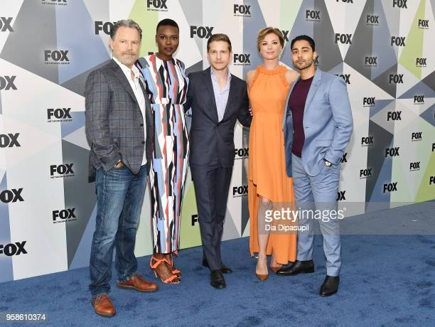 Bruce Greenwood Shaunette Renee Wilson Matt Czuchry Emily VanCamp and Manish Dayal attend the 2018 Fox Network Upfront at Wollman Rink Central Park...