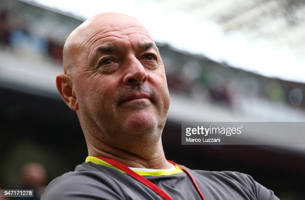 Bruce Grobbelaar before the serie A match between AC Milan and SSC Napoli at Stadio Giuseppe Meazza on April 15 2018 in Milan Italy