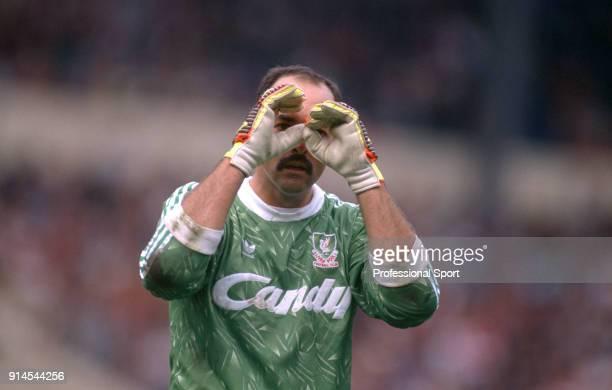 Bruce Grobbelaar of Liverpool circa 1989