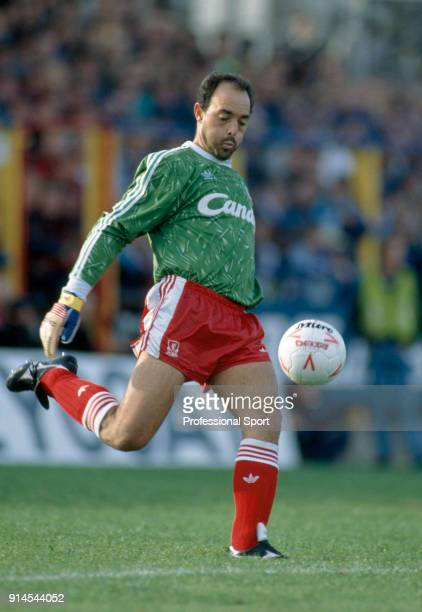 Bruce Grobbelaar of Liverpool in action during the Barclays League Division One match between Wimbledon and Liverpool at Plough Lane on October 14...