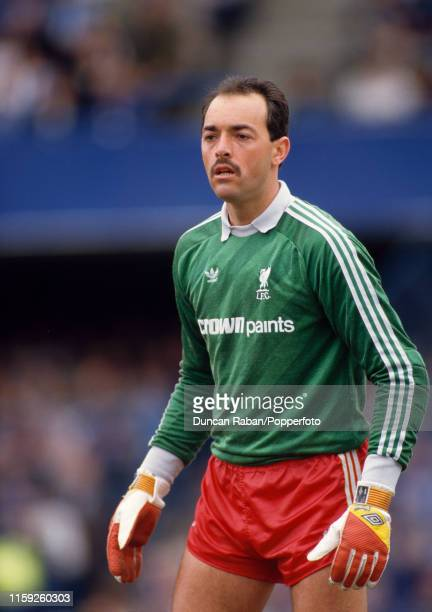 Bruce Grobbelaar of Liverpool in action during the Canon League Division One match between Chelsea and Liverpool at Stamford Bridge on May 3, 1986 in...