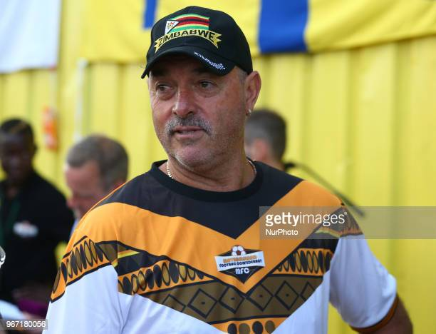 Bruce Grobbelaar of Matabeleland during Conifa Paddy Power World Football Cup 2018 Group C match between Tuvalu against Matabeleland at Coles Park...