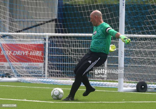 Bruce Grobbelaar of Matabeleland during Conifa Paddy Power World Football Cup 2018 Friendly between Matabeleland v Chagos Islands at Parkside London...