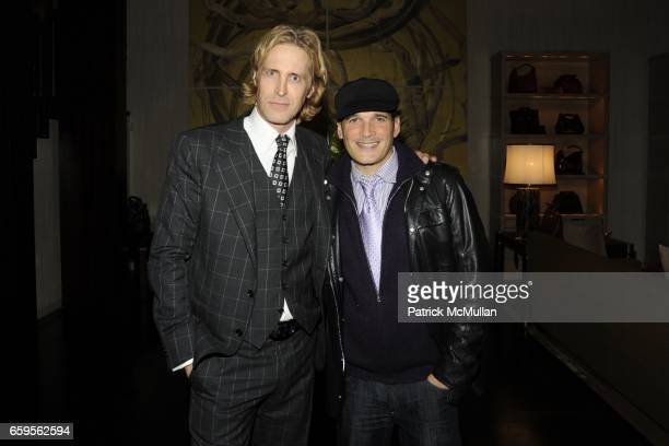 Bruce Hoeksema and Phillip Bloch attend Gwyneth Paltrow and VBH's Bruce Hoeksema Host Cocktail Party for Valentino The Last Emperor at VBH on October...