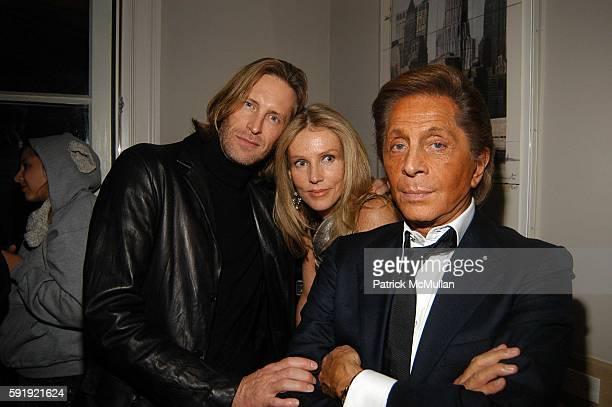 Bruce Hoeksema Charlene de Ganay and Valentino Garavani attend Allison Sarofim's 2005 Halloween Party at West Village on October 29 2005 in New York...