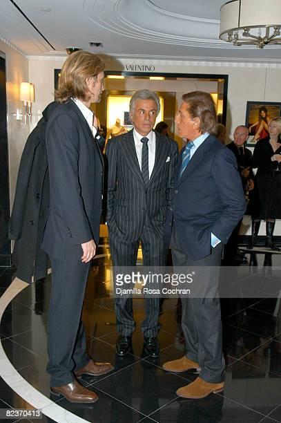 Bruce Hoeksema Giancarlo Giammetti and Valentino