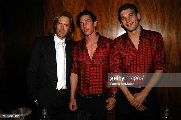 Bruce Hoeksema Justin Climmings and attend Valentino Fragrance Launch Valentino V at the Four Seasons in New York at Four Seasons Restaraunt on May...
