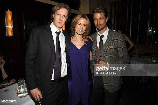 Bruce Hoeksema Lorie Baker and Peter Espegren attend THE CINEMA SOCIETY MICHAEL KORS host the after party for IRON MAN at The Odeon on April 28 2008...