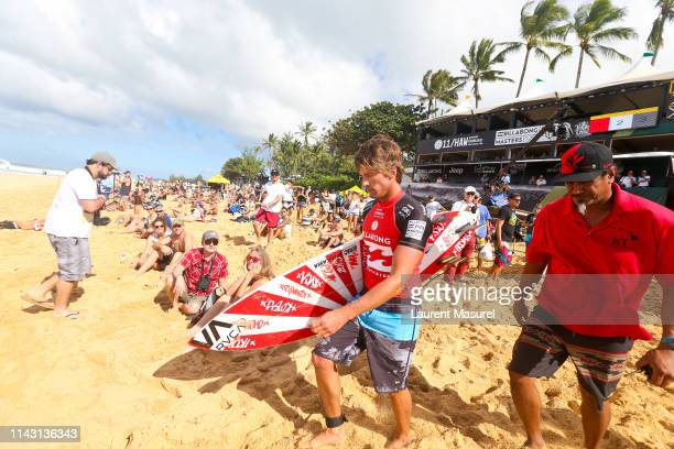 Bruce Irons of Hawaii competing in the 2015 Billabong Pipe Masters at Pipeline Hawaii