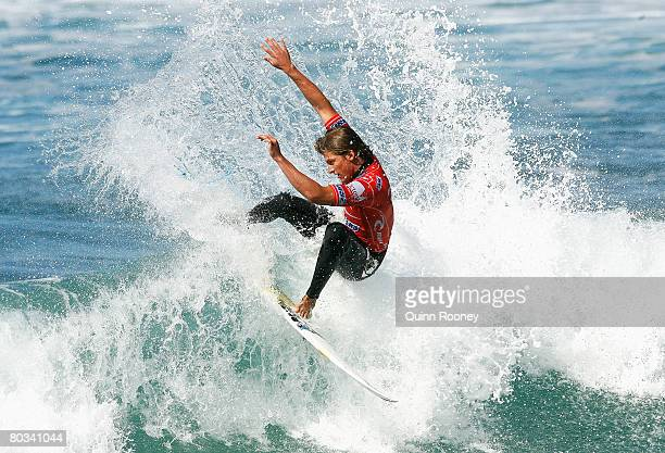 Bruce Irons of the United States of America competes during Round Two of the Rip Curl Pro as part of the ASP World Tour held at Bells Beach March 22...