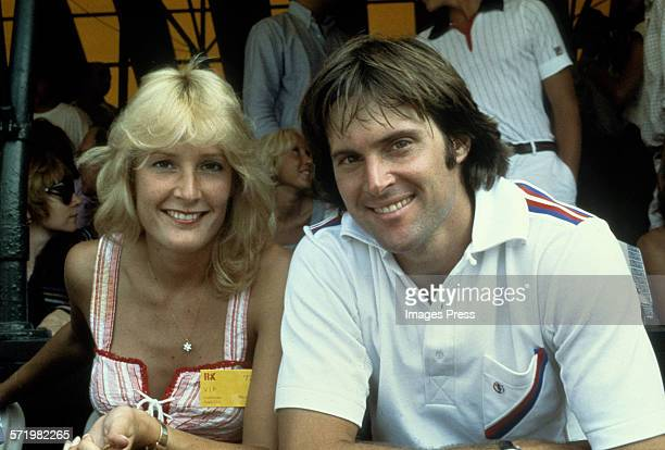 Bruce Jenner and first wife Chrystie attend a tennis match circa 1977 in New York City
