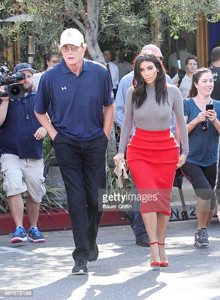 Bruce Jenner and Kim Kardashian are seen on October 20 2014 in Los Angeles California
