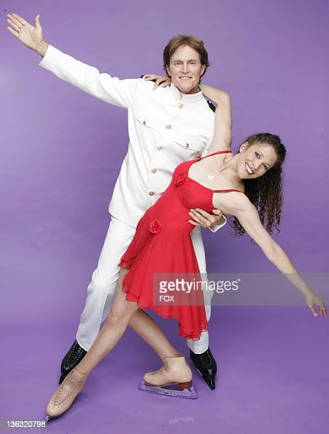Bruce Jenner and Tai Babilonia during Skating With Celebrities Portrait Gallery in Hollywood California United States