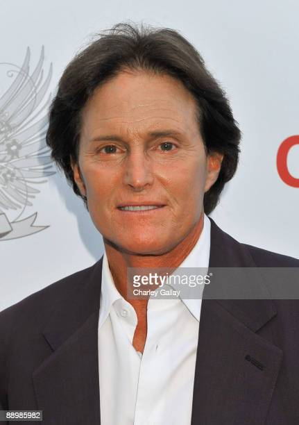 Bruce Jenner arrives at the Aces Angels Celebrity Poker Party at The Playboy Mansion on July 11 2009 in Beverly Hills California