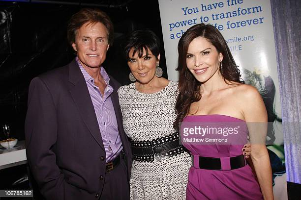 Bruce Jenner Kris Jenner and Lauren Sanchez attend the opening of the Endless Youth Life boutique on November 11 2010 in Beverly Hills California