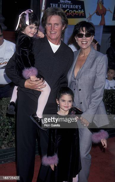 Bruce Jenner Kris Jenner Kendall Jenner and Kylie Jenner attend the world premiere of 'The Emperor's New Groove' on December 10 2000 at the El...