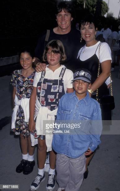 Bruce Jenner Kris Kardashian and family