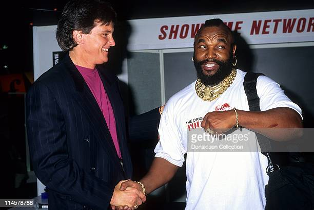 Bruce Jenner Mr T pose for a portrait in December 1993 in Los Angeles California