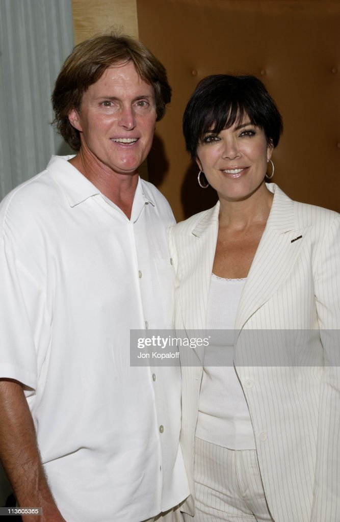 Bruce Jenner & wife Kris during 2002 ESPY Awards - Kick-Off Party Featuring The ESPY Collection at Sky Bar At The Mondrian Hotel in West Hollywood, California, United States.