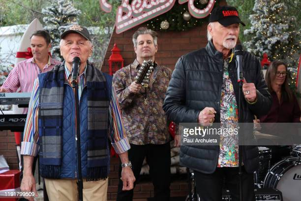 "Bruce Johnston and Mike Love of The Beach Boys visit Hallmark Channel's ""Home & Family"" at Universal Studios Hollywood on December 03, 2019 in..."