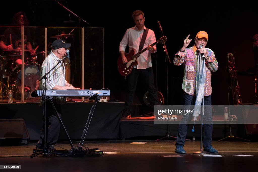 Bruce Johnston, Brian Eichenberger and Mike Love of The Beach Boys perform in concert at The Beacon Theatre on August 17, 2017 in New York City.