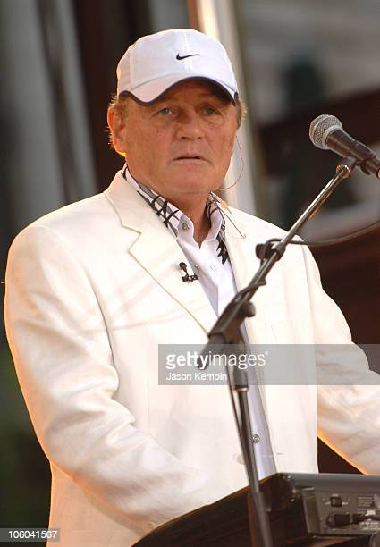 Bruce Johnston of the Beach Boys during The Beach Boys Perform on ABC's 'Good Morning America' July 7 2006 at Bryant Park in New York City New York...