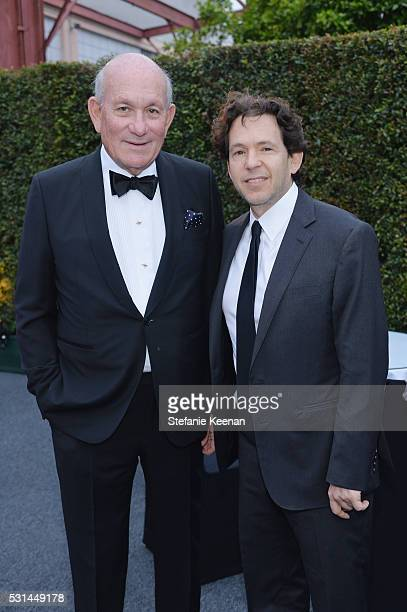 Bruce Karatz and Adam Sender attend the MOCA Gala 2016 at The Geffen Contemporary at MOCA on May 14 2016 in Los Angeles California