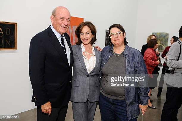 Bruce Karatz Lilly Tartikoff and Cathy Opie attend CalArts Art Benefit And Auction Los Angeles Opening Reception At Regen Projects on February 25...